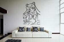 Wall Vinyl Sticker Decal Anime Manga Sailor Moon Girl VY194