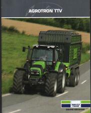 "Deutz-Fahr ""Agrotron TTV"" Tractor Brochure Leaflet"