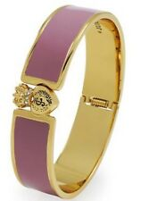 JUICY COUTURE JEWELLERY LADIES' PVD GOLD PLATED BANGLE Satin Pouch Gift Bag