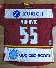 Signed Daniel Vukovic #55 Genève-Servette HC Hockey Swiss Cup Team Shirt Jersey