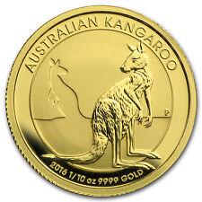 2016 Australia 1/10 oz Gold Kangaroo BU - SKU #92700