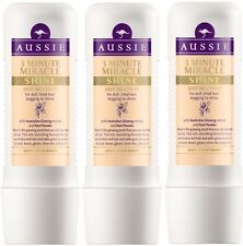 3 x 250ml Aussie  3 Minute Miracle SHINE Deep Treatment - For Dull Tired Hair