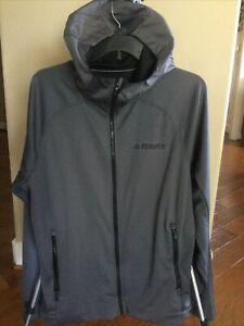 Adidas Men Terrex Outdoor Soft Shell Hooded Jacket Size Medium CG2493