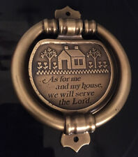 As For Me And My House Doorknocker -Brass