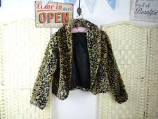 FAUX FUR lined TWENTYONE leopard jacket  acrylic plush S/P JACKET87