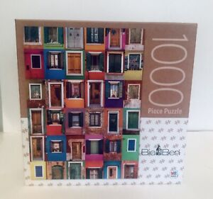 Big Ben Jigsaw Puzzle Collage of 36 Windows and Doors 1000 pcs NEW