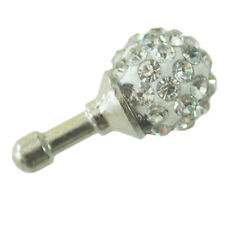 3.5mm Clear Crystal Ball Earphone Ear Cap Anti Dust Plug Cover for iPhone4 4s AD