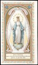 antico santino cromo-holy card MADONNA DELLA MEDAGLIA MIRACOLOSA 1