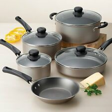 Nonstick Tramontina 9-PC Pots And Pans Cookware Set w/ glass lid Cooking Kitchen