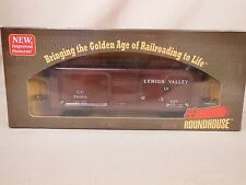 HO SCALE ROUNDHOUSE LEHIGH VALLEY 76303 40' DOUBLE SHEATHED BOX CAR READY TO RUN