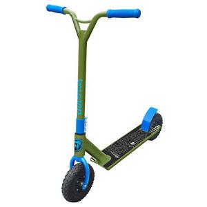 New Adrenalin Super Cross Off-Road Dirt Scooter Kids/Adult Trick – Blue