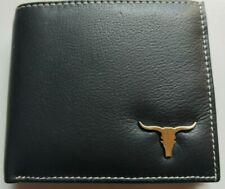 Mens Small Genuine Real Leather Wallet Black Slim Mini Quality Luxury ID Holder