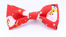 Christmas Red Snowman Dicky Bow Tie - MEDIUM- for Puppy , Dog , Cat