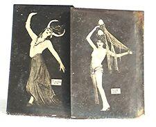 """2 Vintage Cigarros Girly Cards -- Obsequio de los Cigarros """"Nacionales"""""""