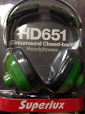 Superlux HD651 Circumaural Closed-Back Headphones - Green