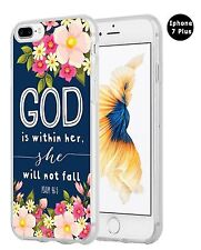 PSALMS BIBLE VERSE New Cute Flowers Christian Quote Case Cover for iPHONE 7 PLUS