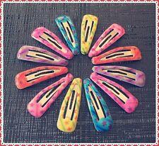 12 Multi Colour Star Baby Toddler Mini Snap Hair Clips 3cm Fringe Holder