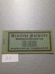 Deutsches Reich Markenheft Markenheftchen Deutsche Nothilfe 1933 komplett (11)
