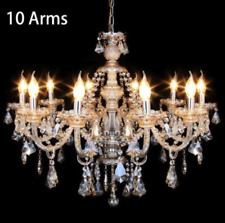 10 Arms K9 Crystal Glass Ceiling Light E14 Pendant Chandelier