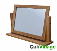 Oak Dressing Table Swing Mirror / Table Mirror / Bedroom Furniture / New Wellow
