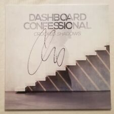Dashboard Confessional Autographed Crooked Shadows Light Blue-Clear Vinyl LP #2