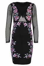Party Long Sleeve Stretch, Bodycon Floral Dresses for Women