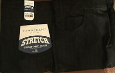 NEW MEN'S TOWNCRAFT STRETCH COMFORT JEANS SZ 36 X 32, BLACK