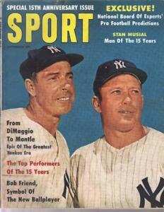 MICKEY MANTLE JOE DIMAGGIO SPORT MAGAZINE SEPTEMBER 1961