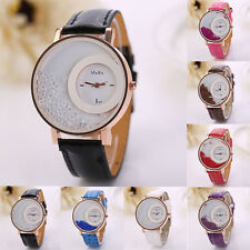 Woman Watch Leather Quicksand Rhinestone Quartz Bracelet Wristwatch Watch NEW
