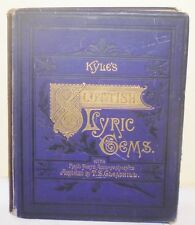 KYLE`S SCOTTISH LYRIC GEMS 1880