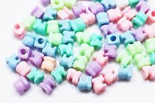 Elephant Bead Plastic Animal Shaped Pastel Color Large Children Baby 7mm 40pcs