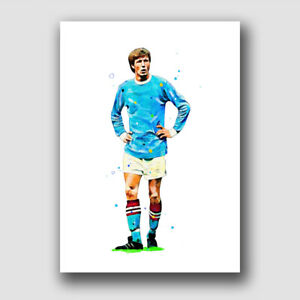 MANCHESTER CITY - COLIN BELL - MAN CITY - FRAMED PRINT POSTER PICTURE!