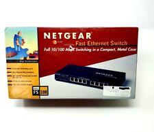 New Netgear ProSafe 8-Port 10/100 Mbps Switch Auto Uplink Fast Ethernet Fs108