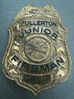 VINTAGE Junior Fireman Badge FULLERTON FIRE DEPT Calif Entenmann LOS ANGELES