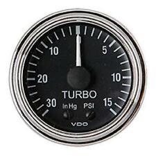 VDO Series 1 Turbo Boost Gauge 150-361 W/ Line Kit  Ford GM Chrysler Cobra