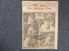 RON   HANSEN  White  Sox  Star  SIGNED   1964  Sporting  News  Cover