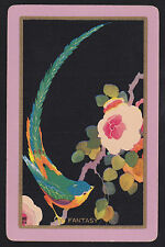 1 Single VINTAGE Swap/Playing Card USNN BIRD & FLOWER 'FANTASY FA-2-1-A'