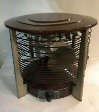 Vintage LE JOHN Hassock Floor Electric Fan Retro Industrial With Heat