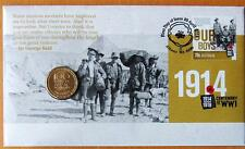 2014 AUSTRALIAN ANZAC CENTENARY OF WW1  PNC STAMP AND $1 COIN COVERS