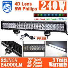 "240W 23inch Philips LED Work Light Bar Spot/Flood Combo Offroad 4WD ATV 20""/210w"