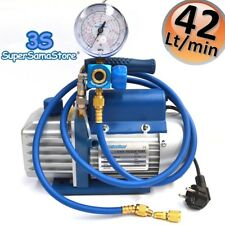 3S refrigerazione KIT NUOVO Vuoto & ricarica refrigerante-POMPA + MANOMETRO R410A R134A