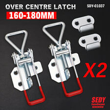 2pcs X Over Centre Latch Large Trailer Toggle Overcentre Latch Fastener Ute 4wd
