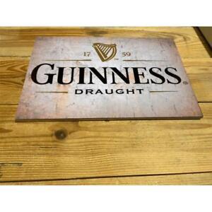 Guinness LAGER BEER VINTAGE PUB  ENAMEL / CERAMIC SIGN WALL PLAQUE