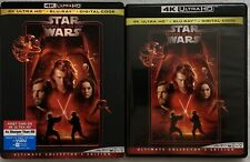 STAR WARS EPISODE III REVENGE OF THE SITH 4K ULTRA HD BLU RAY 3 DISC + SLIPCOVER