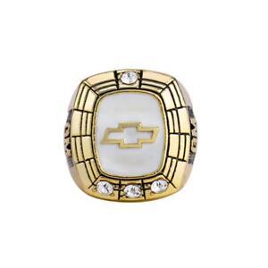 Diamond General Motors Chevrolet Ring Yellow Gold GM Company Service Souvenir