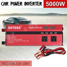 3000W-5000W Power Inverter Modified Sine Wave 12V to AC 110-130V Converter Red
