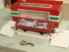 LGB Train 45110 Covered Christmas Gondola Car with Hatches G Scale MINT IN BOX