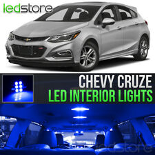 2011-2018 Chevy Cruze Blue Interior LED Lights Kit Package + License Lights