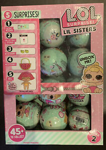 LOL Surprise Lil Sisters Doll Series 2 Wave 1 Lot Of 24 Balls With Display Box