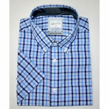 Marks and Spencer Men's Check Short Sleeve Casual Shirts & Tops